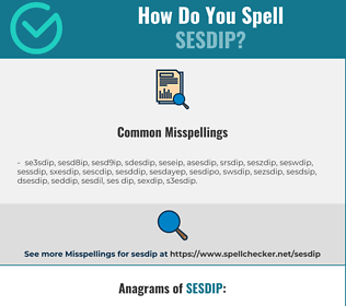 Correct spelling for SESDIP
