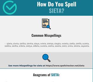 Correct spelling for SIETA