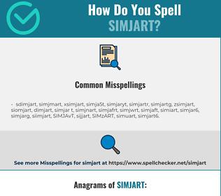 Correct spelling for SIMJART