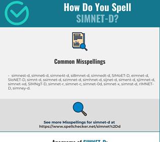 Correct spelling for SIMNET-D
