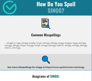 Correct spelling for SINGG