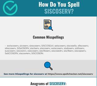 Correct spelling for SISCOSERV