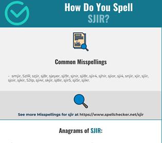Correct spelling for SJIR