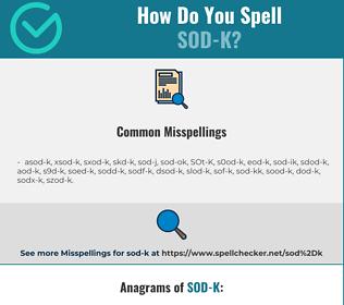 Correct spelling for SOD-K