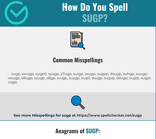 Correct spelling for SUGP