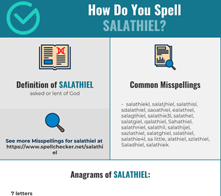 Correct spelling for Salathiel
