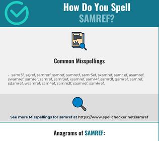 Correct spelling for Samref