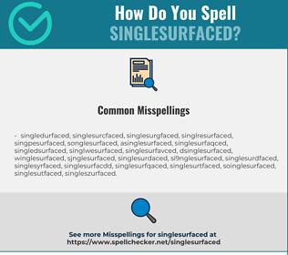 Correct spelling for Singlesurfaced