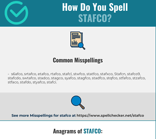 Correct spelling for Stafco
