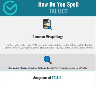 Correct spelling for TALLIC