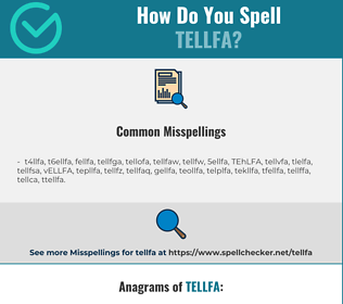 Correct spelling for TELLFA