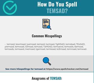 Correct spelling for TEMSAD