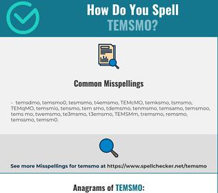 Correct spelling for TEMSMO