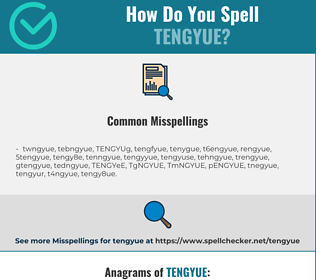 Correct spelling for TENGYUE