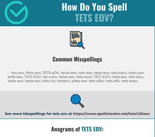 Correct spelling for TETS EOV