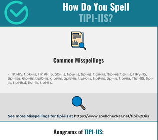 Correct spelling for TIPI-IIS