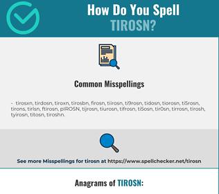Correct spelling for TIROSN