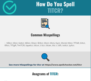 Correct spelling for TITCR