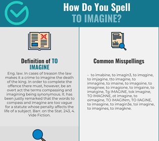 Correct spelling for TO IMAGINE