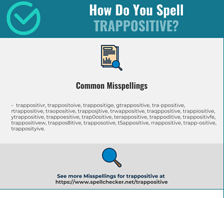 Correct spelling for TRAPPOSITIVE