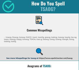 Correct spelling for TSAOG