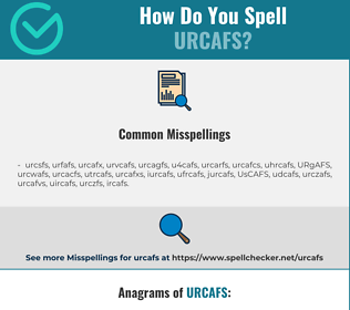 Correct spelling for URCAFS