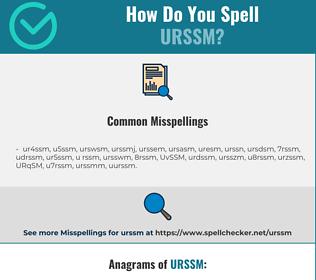 Correct spelling for URSSM