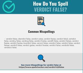 Correct spelling for VERDICT FALSE