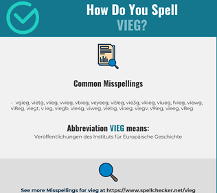 Correct spelling for VIEG