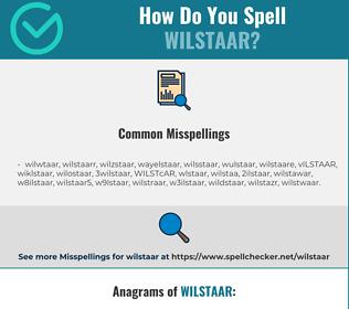 Correct spelling for WILSTAAR