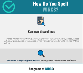Correct spelling for WIRCS