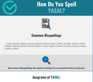 Correct spelling for YASAL