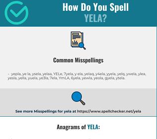 Correct spelling for YELA