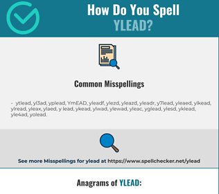 Correct spelling for YLEAD