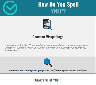Correct spelling for YNEP