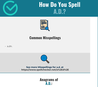 Correct spelling for a.d.