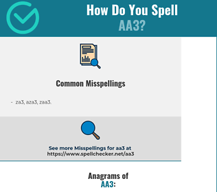 Correct spelling for aa3