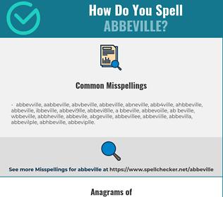 Correct spelling for abbeville