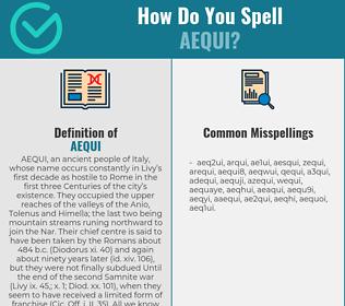 Correct spelling for aequi