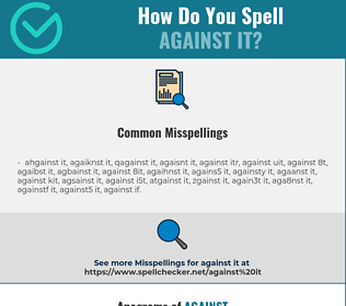 Correct spelling for against it