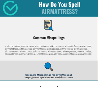 Correct spelling for airmattress