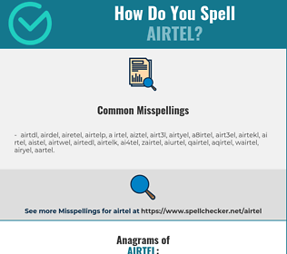 Correct spelling for airtel