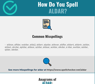 Correct spelling for aldar