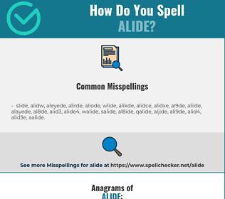 Correct spelling for alide