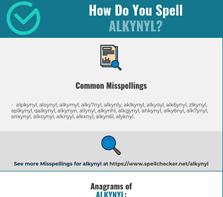 Correct spelling for alkynyl