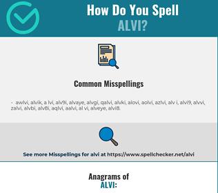 Correct spelling for alvi