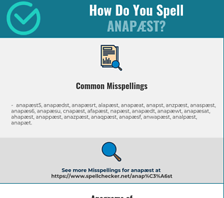 Correct spelling for anapæst