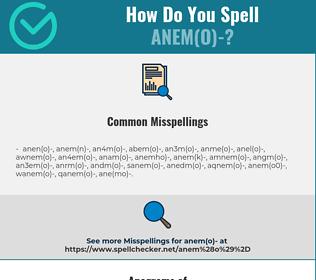 Correct spelling for anem(o)-