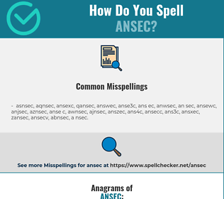Correct spelling for ansec