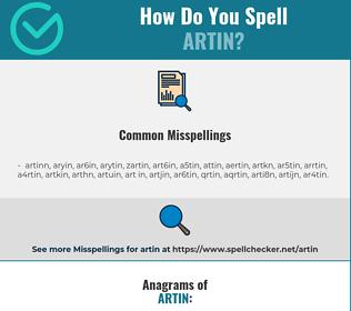 Correct spelling for artin